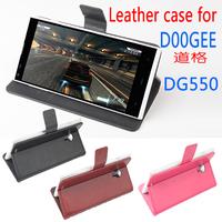 Original Doogee Dagger DG550 Flip Leather Cover For Doogee Dagger DG550 Case  White Black Russian