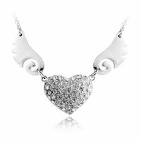 Austria crystal givlie wings  fashion Women pendant chain