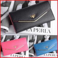 2014 New Candy Color PU Leather Long Wallet Designer Clutch Famous Brand Women Clutch Purse Bolsas Femininas T012