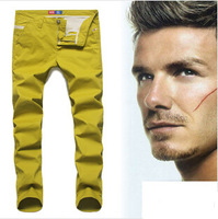 [CPS] HOT!free shipping new fashion modern leisure quality brand designer same as beckham two color pants jeans #902