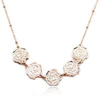 Fashion rose  colnmnaris fashion chain rose gold earrings set set