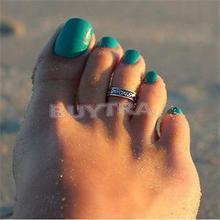 New Stylish Trendy Women Toe Rings Antique Silver Beach Open Toe Rings Women Brand New Foot