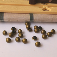 F602FREE SHIPPING!!!The bronze circular mushroom rivet Punk half a copper  metal  iron basement bulk 1000pcs/lot 6mm
