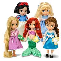 "5pcs/lot Animators Collection Princess Doll PVC Action Figure Girls Dolls Toys Gifts 16""40CM"