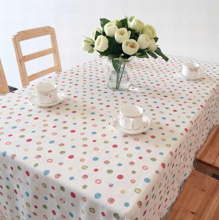 Korean style dot 100% cotton dining tablecloth lace tablecloth set table cover skirt Overlay banquet striped tablecloths(China (Mainland))