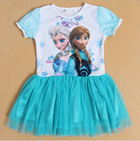 2014 new Frozen dress, Brand children's clothing frozen country princess dress, 100% cotton children's clothing. Cartoon dress.