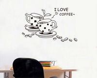 JM8268 Kids vinyl wall sticker for kids rooms home decor decals adesivos de parede stickers we love coffee