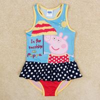 children bathing peppa pig swimwear for baby girls children summer swimsuits girl princess swimsuit one piece sun-top R5002