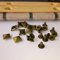 F620WHOLESALE PRICE!!Bronze Pyramid Studs Rivet half a copper  iron basement  Free shipping   bulk 1000pcs/lot 7mm