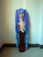 blue color   human hair Italian Yaki full lace wig & lace front wig color 1B