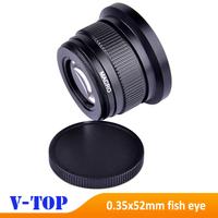 Super HD 0.35x52mm Fisheye Macro Wide Angle Lens for Nikon D7000 D7100 D5200 D5100 D5000 D3100 D3000 D90 D40 D60 Lens-Free Ship