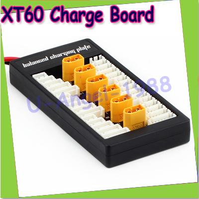 Free shipping+2014 New Lipo Charging XT60 T Plug Adaptor Board 2-6S Charge/Balance Board Lipo Battery for imax B6 B6AC