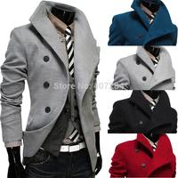 Cashmere woolen men overcoat men slim fashion medium-long woolen overcoat men's outerwear