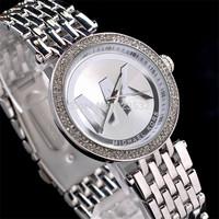 2014 HOT sale women brand Watch dress Quartz diamond watch luxury fashion Stainless steel oversize wristwatch