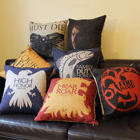 18' 45cm free shipping Game of throne Pillow  cushion cover fashion classic nostalgic
