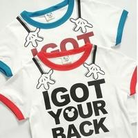 2014 summer new arrival fashion mickey hand wholesale 5pcs/lot 100% Cotton top tee cartoon children kids girls boy t shirts