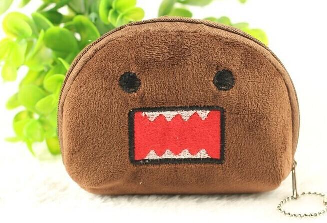 6PCS Domo Kun Half Round Kid's Plush Coin Purse & Wallet Pouch Case BAG Pendant Bags Pouch Beauty Holder BAG Women Handbag(China (Mainland))