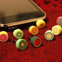 Quality Cheap Cute Plastic Fruit  Eco 3.5 mm Cell Phone Dust Plug Earphone Jack Plug R-280