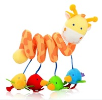 Baby Toy  Giraffe Plush Animal Multipurpose Bed Circle/ Bed Round with Sound Paper/ Mirror Infant Boys Girls Gift Free Drop Ship