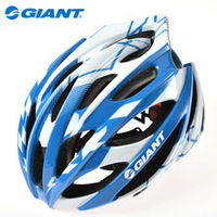 Giant GSV80 Helmet Road Bike MTB Cycling Cycle Bicycle Helmet With LED Super Light Sports Helmet Head Protector Red/ Blue,2 Size