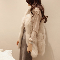 2014 Autumn winter jackets women coat jacket desigual trench Faux fur vest fur vest  casacos femininos H46