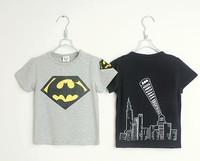 2014 summer new arrival bat man fashion wholesale 5pcs/lot 100% Cotton top tee cartoon children kids girls boy t shirts