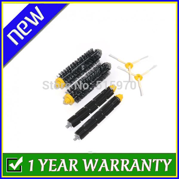 2 Side Brushes, 2 Flexible Beater Brush, 2 Bristle Brush For iRobot Roomba 600 700 Series 780 Vacuum Cleaner Accessory Kit(China (Mainland))