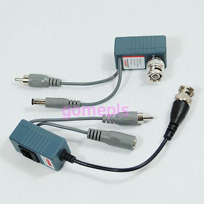 Free Shipping New CCTV Video Audio Power Balun BNC Cat.5 Transceiver(China (Mainland))