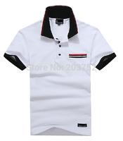 New Factory direct sale Shirt For Men's 2014 Summer Fashion stripe polo Shirt Men Casual Men's Sport polo shirt free shipping