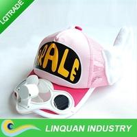 Solar Cap/Solar Fan cap/sunbonnet High quality cotton cap/arale hat with wings for children