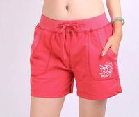 Summer leisure sports shorts unginned cotton loose shorts female thin model