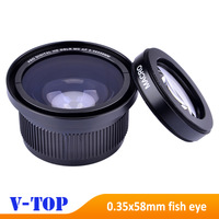 Super HD 0.35x 58mm Fisheye Macro Wide Angle Lens for Canon EOS 700D 650D 600D 550D1100D Rebel T5i T4i T3i T3 T2i Lens-Free Ship