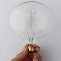 1PCS Spherical bulb 40W 110V 220v Bullet bulb light Incandescent Bulb Antiqued Edison Light Fashion Incandescent Edison Bulbd
