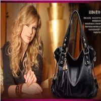 New 2014 Fashion Genuine Leather women handbag brand bolsa franja fringe handbag