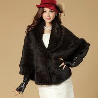 2014 Winter 100% Knitted Mink Fur Shawl, Mink Pashmina SU-14048 EMS Free Shipping