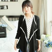 2014 spring autumn winter jackets women women coat long section back chiffon shawl sweater coat Women 2E156