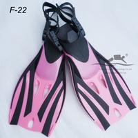 hot sale & High quality adjustable size pink Dive Fins junior shoes F-22P