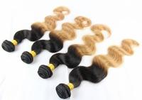 5A Peruvian Virgin Hair OMBRE T1B/27 Extension FREE SHIPPING 4PCS/LOT Human Hair body wave Weaves Peruvian Hair Extensions