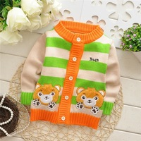Hot wholesale children / Baby single-breasted sweater , Baby cardigan Sweater .stripe Sweater . ( 3pcs / lot ) Free shipping