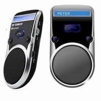 Free Shipping ! Bluetooth Car Kit Handsfree call Car Kit LCD Display Solar Powered