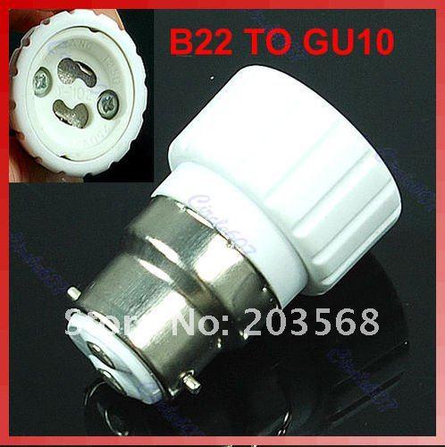 F98B22 to GU10 Base LED Light Lamp Bulbs Adapter Converter New(C