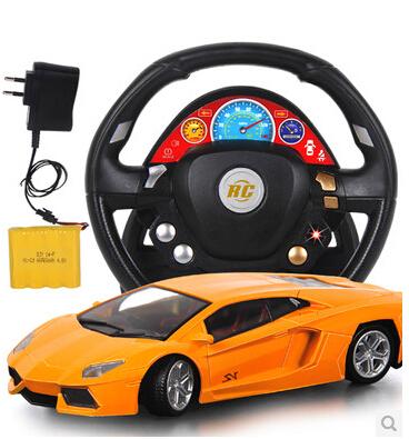 grande télécommande de volant de voiture télécommande rechargeable électrique enfants voiture jouet de garçon de contrôle à distance de course sans batterie