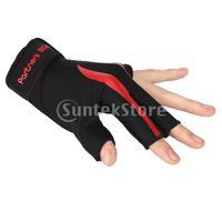 New 2014 Brand New  Red Black 3 Finger Billiard Glove