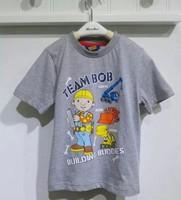 New 2014 Bob the builder boy t shirts summer short sleeve 100% cotton shirt little boy shirt bob 1pc free shipping