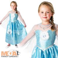 New arrivel 5pcs Children girl's 2014 summer long sleeve  frozen dress with snowflake 31434