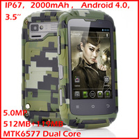 Army phone T11 rugged smartphone 3.5inch android 4.0 original phone  IP67 waterproof dustproof shockproof  cellulares by russian