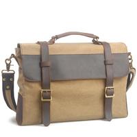 Virginland  Canvas Brief Case  fashion vintage casual bag messenger men's bag briefcase  1870