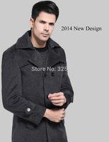 2014 Fashion winter coat men  Solid  Plus size Outwear  Europe Stylish New Design slim jacket  men's clothing