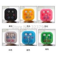 2014 Hot Color Ear Headphones MP3 headset phone headset ear square boxed