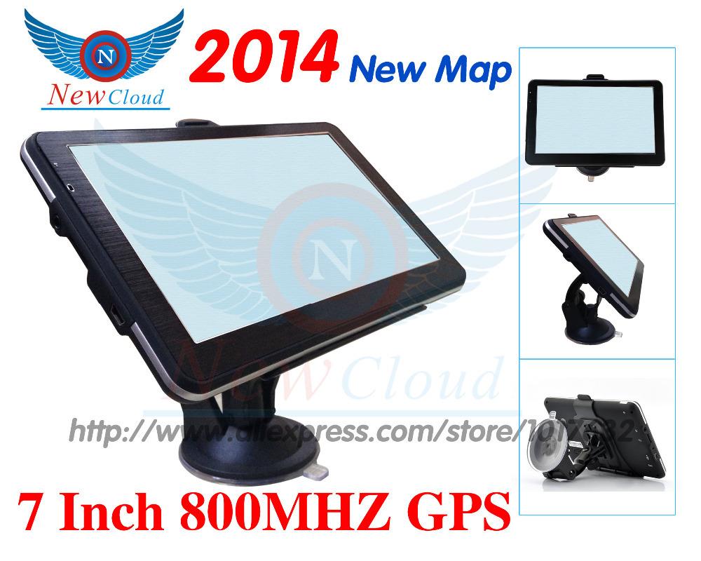 7 inch vehicle GPS navigation 2014 New Map/4GB/MTK800MHZ/ car navigator Free Shipping Russia Ukrainian Spanish Portuguese(China (Mainland))